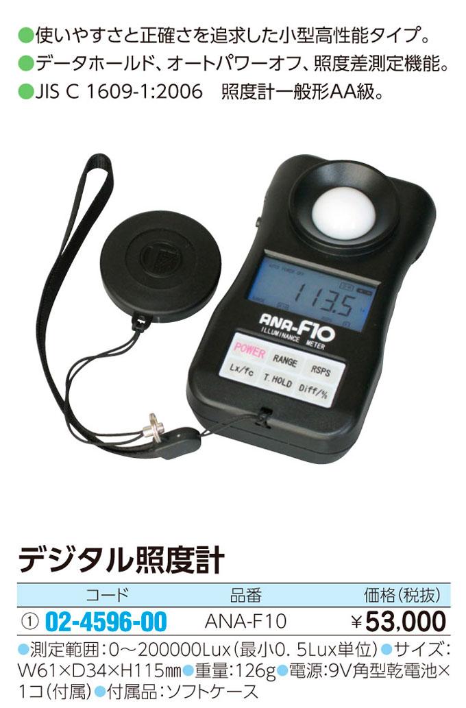 デジタル照度計   デジタルショウドケイ ANA-F10【1台単位】