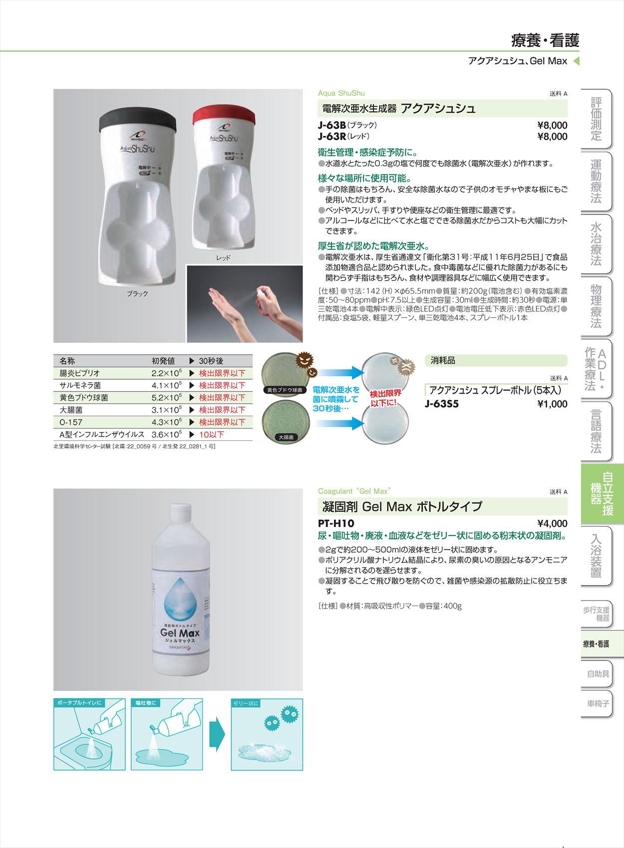 アクアシュシュ スプレーボトル(5本入り)J-63S5[個](sa14Q32840)【酒井医療】