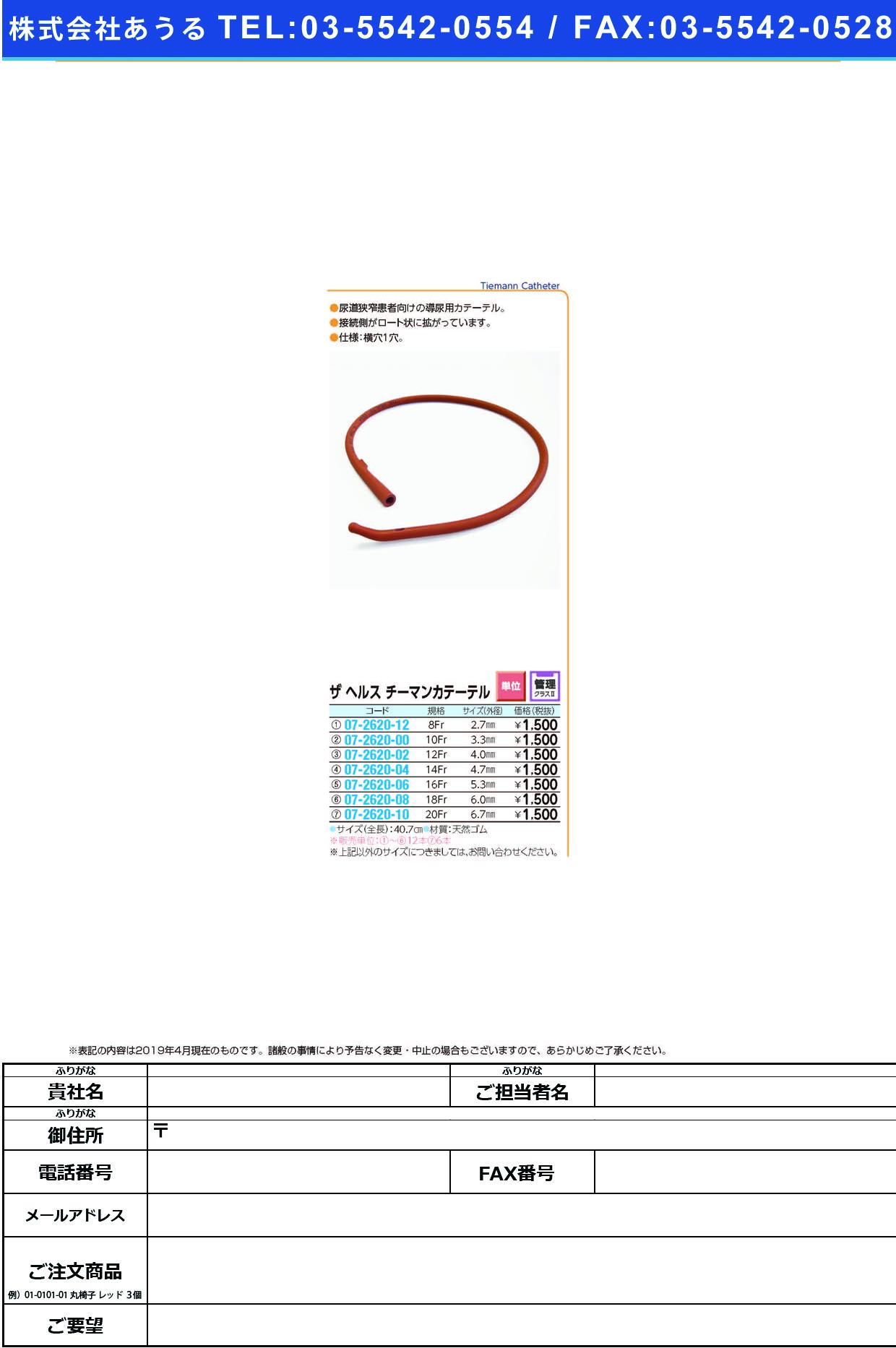 (07-2620-04)チーマンカテーテル 14FR チーマンカテーテル(イズモヘルス)【12本単位】【2019年カタログ商品】