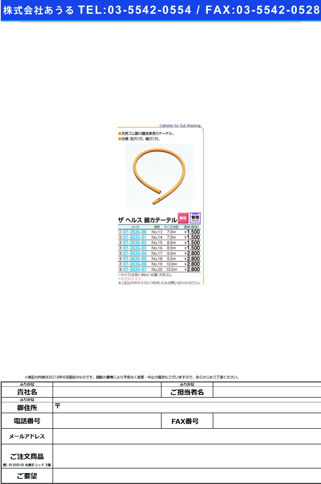 (07-2635-02)腸洗浄カテーテル NO.15 チョウセンジョウカテーテル(イズモヘルス)【6本単位】【2019年カタログ商品】
