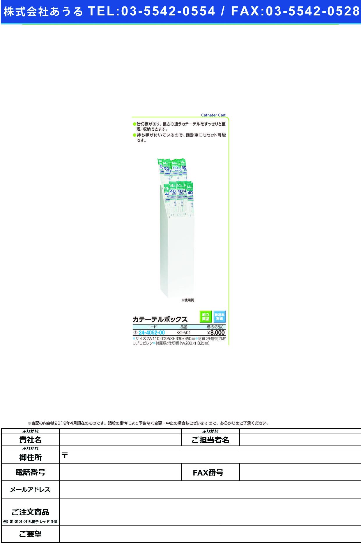 (24-4052-00)カテーテルボックス KC-601 カテーテルボックス(ケルン)【1個単位】【2019年カタログ商品】