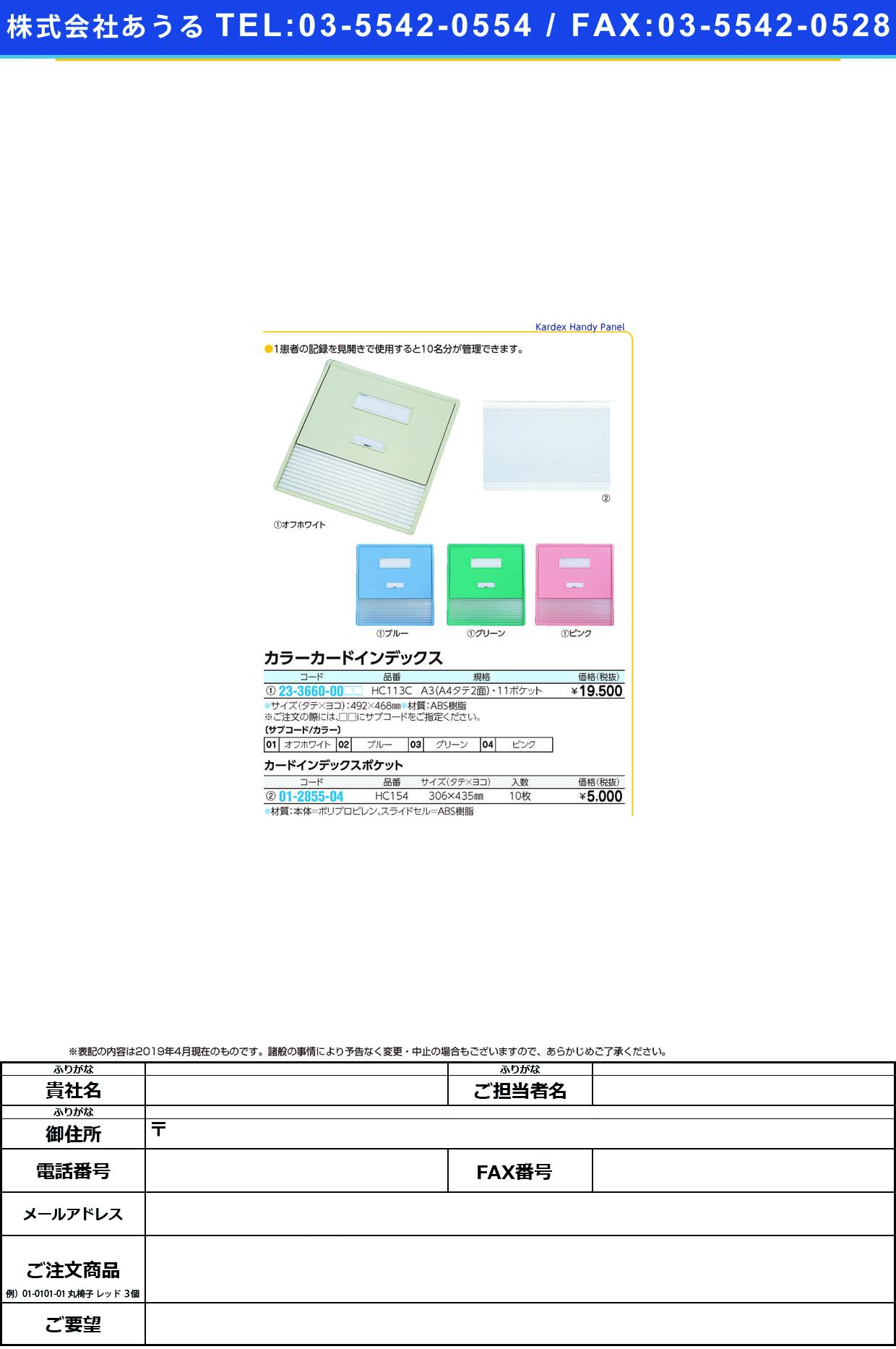 (01-2855-04)カードインデックスポケット(A3) HC154(10マイイリ) カードインデックスポケット(LIHITLAB.)【1袋単位】【2019年カタログ商品】