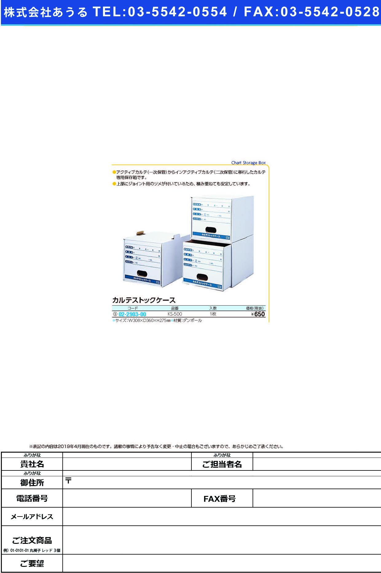 (02-2903-00)カルテストックケース KS-500 カルテストックケース(ケルン)【1個単位】【2019年カタログ商品】