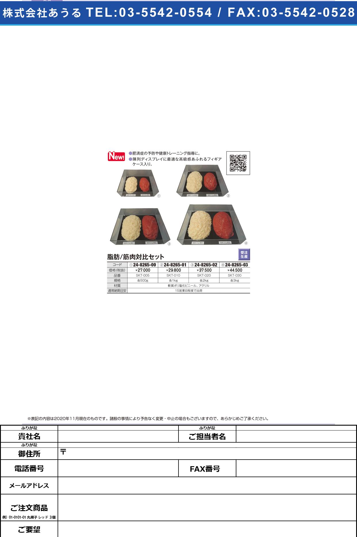 脂肪/筋肉対比セット(3Kg) SKT-030(アクリルケースツキ)SKT-030(アクリルケースツキ)(24-8265-03)【イワイサンプル】(販売単位:1)